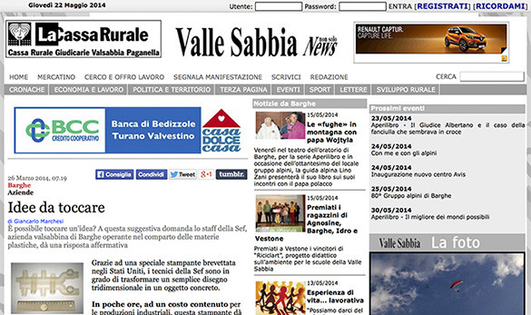 Vallesabbia News